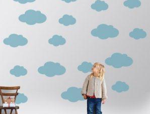 Συννεφάκια Παιδικά Αυτοκόλλητα τοίχου Small Καρτέλα 119×100 cm
