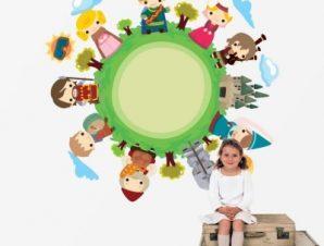 Παραμύθι Παιδικά Αυτοκόλλητα τοίχου 54 x 55 cm
