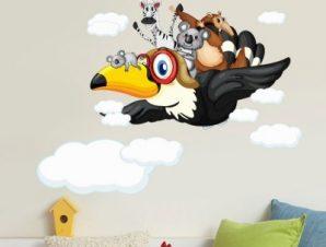 Ώρα για πτήση Παιδικά Αυτοκόλλητα τοίχου 49 x 65 cm