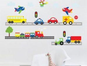 Αυτοκινητάκια Παιδικά Αυτοκόλλητα τοίχου 160×90 cm