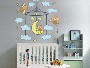 Όνειρα γλυκά συννεφάκια Παιδικά Αυτοκόλλητα τοίχου 52 x 50 cm