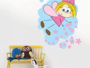 Μικρή νεράιδα Παιδικά Αυτοκόλλητα τοίχου 60 x 50 cm