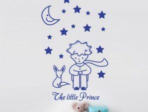 Μικρός πρίγκιπας Παιδικά Αυτοκόλλητα τοίχου 82 x 50 cm