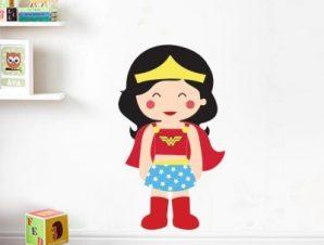 Amazon girl Παιδικά Αυτοκόλλητα τοίχου 50 x 29 cm
