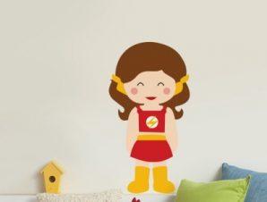 Fast Girl Παιδικά Αυτοκόλλητα τοίχου 50 x 27 cm