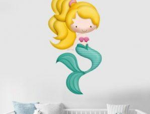 Γοργονίτσα Παιδικά Αυτοκόλλητα τοίχου 66 x 35 cm