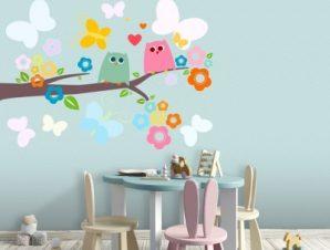 Κλαδάκι Δέντρου Παιδικά Αυτοκόλλητα τοίχου 46 x 65 cm