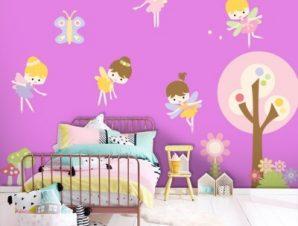 Όμορφες νεραϊδούλες Παιδικά Αυτοκόλλητα τοίχου 53 x 65 cm