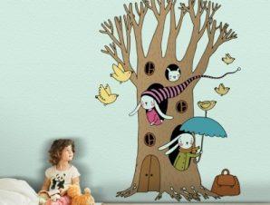 Μαγικό Δέντρο Παιδικά Αυτοκόλλητα τοίχου 85 x 60 cm