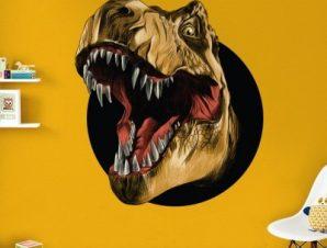 Άγριος δεινόσαυρος Παιδικά Αυτοκόλλητα τοίχου 45 x 45 cm