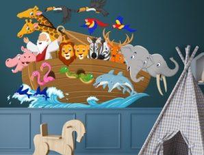 Κιβωτός του Νώε Παιδικά Αυτοκόλλητα τοίχου 45 x 65 cm