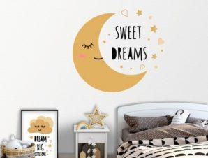 Sweet dreams Παιδικά Αυτοκόλλητα τοίχου 45 x 45 cm