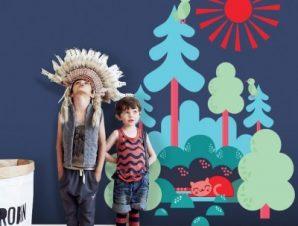 Δεντράκια Παιδικά Αυτοκόλλητα τοίχου 47 x 35 cm