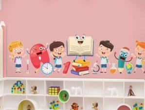 Επιστροφή στο σχολείο Παιδικά Αυτοκόλλητα τοίχου 29 x 100 cm