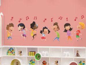 Παιδική μελωδία Παιδικά Αυτοκόλλητα τοίχου 28 x 90 cm