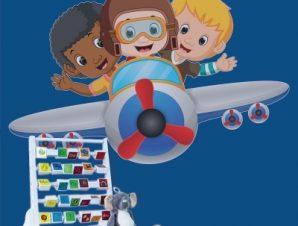 Μικροί πιλότοι Παιδικά Αυτοκόλλητα τοίχου 45 x 70 cm
