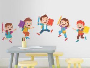 Αγάπη για το διάβασμα Παιδικά Αυτοκόλλητα τοίχου 32 x 100 cm