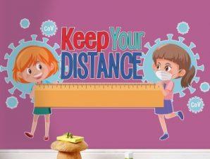 Κράτα απόσταση Παιδικά Αυτοκόλλητα τοίχου 41 x 70 cm