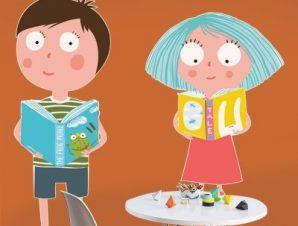 Αγαπώ τα βιβλία Παιδικά Αυτοκόλλητα τοίχου 51 x 55 cm