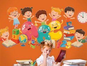 ABC.. Παιδικά Αυτοκόλλητα τοίχου 32 x 70 cm