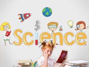 Επιστήμη Παιδικά Αυτοκόλλητα τοίχου 31 x 70 cm