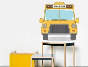 Σχολικό λεωφορείο Παιδικά Αυτοκόλλητα τοίχου 39 x 40 cm