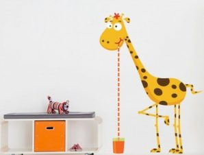 Καμηλοπάρδαλη μέτρο Παιδικά Αυτοκόλλητα τοίχου 55 x 40 cm