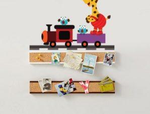 Μικρό τρενάκι Παιδικά Αυτοκόλλητα τοίχου 47 x 65 cm