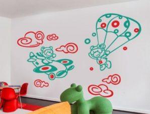 Πιλότοι στον αέρα Παιδικά Αυτοκόλλητα τοίχου 74 x 119 cm
