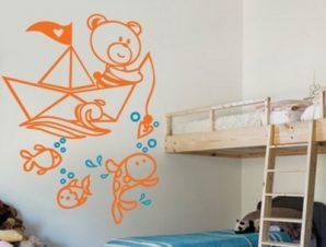 Ο βυθός της θάλασσας Παιδικά Αυτοκόλλητα τοίχου 130 x 90 cm