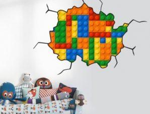 Leggo boom Παιδικά Αυτοκόλλητα τοίχου 68 x 98 cm