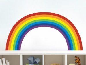 Ουράνιο τόξο απλό Παιδικά Αυτοκόλλητα τοίχου 54 x 120 cm