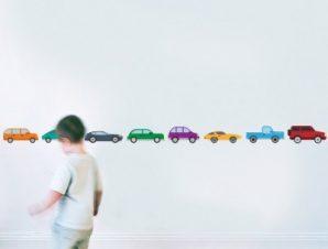 Αυτοκινητάκια στην σειρά Παιδικά Αυτοκόλλητα τοίχου 16 x 283 cm