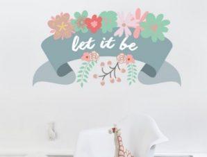 Let it be… Παιδικά Αυτοκόλλητα τοίχου 54 x 100 cm