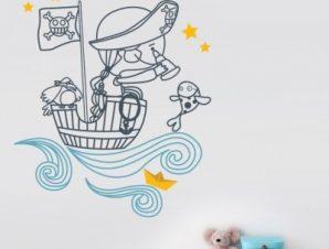 Σεβάχ ο Θαλασσινός Παιδικά Αυτοκόλλητα τοίχου 117 x 96 cm