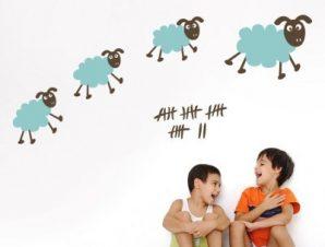 Αρνάκια Παιδικά Αυτοκόλλητα τοίχου 49 x 120 cm