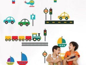 Πάμε ταξίδι! Παιδικά Αυτοκόλλητα τοίχου Small 117×100 cm