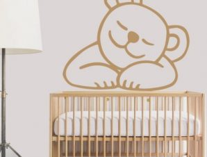 Γλυκό αρκουδάκι Παιδικά Αυτοκόλλητα τοίχου 43 x 50 cm