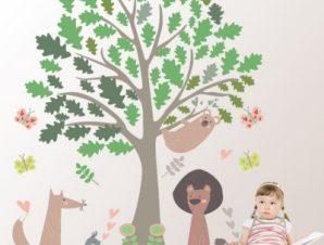 Δάσος Παιδικά Αυτοκόλλητα τοίχου 151 x 128 cm
