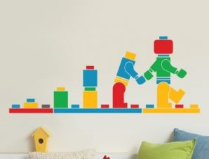 Lego Παιδικά Αυτοκόλλητα τοίχου 48 x 120 cm