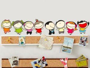 Παιδάκια χαρούμενα Παιδικά Αυτοκόλλητα τοίχου 20 x 111 cm