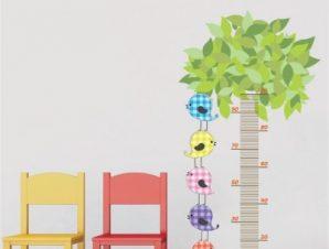 Υψόμετρο με δέντρο Παιδικά Αυτοκόλλητα τοίχου 145 x 77 cm