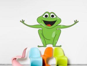 Βατραχάκι με ανοιχτά χέρια Παιδικά Αυτοκόλλητα τοίχου 40 x 70 cm