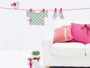 Ρουχαλάκια Παιδικά Αυτοκόλλητα τοίχου 43 x 118 cm