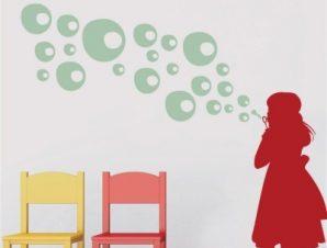 Φουσκίτσες Παιδικά Αυτοκόλλητα τοίχου 60 x 58 cm