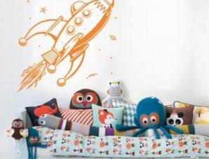 Διαστημόπλοιο Παιδικά Αυτοκόλλητα τοίχου 60 x 60 cm