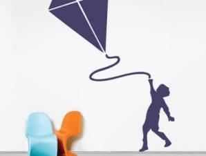 Χαρταετός Παιδικά Αυτοκόλλητα τοίχου 82 x 60 cm