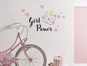 Διακοσμητικά αυτοκόλλητα τοίχου Girl Power M