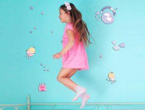 Διακοσμητικά αυτοκόλλητα τοίχου Happy Fairies 3D