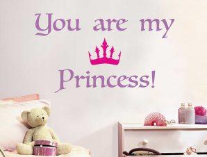Διακοσμητικά αυτοκόλλητα τοίχου Princess L